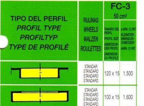 Curvadora CASANOVA FC-03 con rulinas