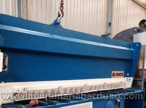Cizalla hidráulica HACO Mod. HSL 4016 de 4000 x 16. Marcado CE
