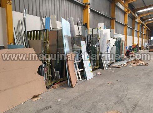 Stock en utiles para estructuras aluminio, herrajes, gomas, aire acondicionado, mobiliario de oficina, equipos informaticos...etc