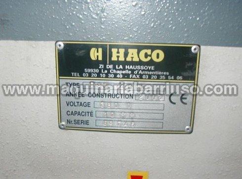 Cizalla HACO hidraulica mod. HSL-4010  de 4000 x 10 mm.