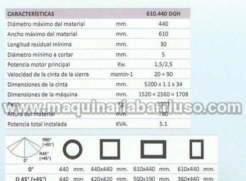 Sierra de cinta BOMAR semiautomatica mod. Transverse 610.440 DGH