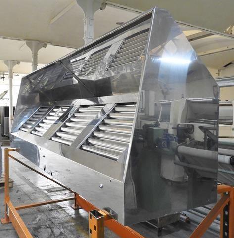 Campana extractora de cocina industrial