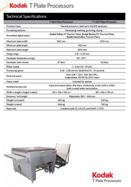 Procesadora planchas de CtP térmico KODAK HU-Q, mod. CPG-86