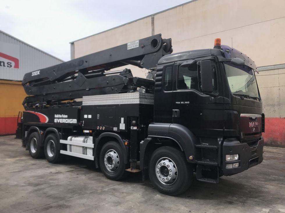 Camion MAN TGS 35.360 Bomba de hormigon EVERDIGM 37-ZX
