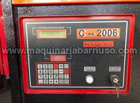 Pareja formada por Plegadora Nargesa Mod  MP2003 y Cizalla Nargesa Mod. C2006