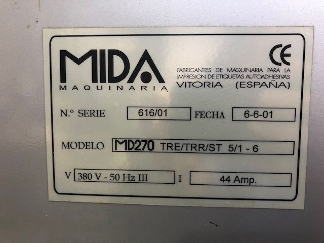 Maquina impresión etiquetas