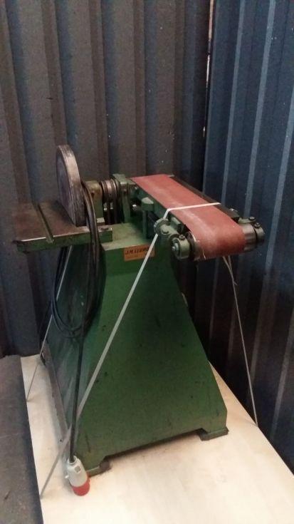 Lijadora de banda y de disco lateral