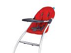 La trona Eat de Babyhome cuenta con estructura de aluminio y flexible que puede plegarse y guardarse de manera fácil y rápida.