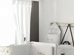 La colección Ambiente Ely, de Belino, está fabricada con textiles naturales, combinando telas de piqué de algodón en color blanco liso y con motas en camel.