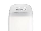 El esterilizador eléctrico de Bébéconfort (Dorel) esteriliza biberones y accesorios en 5 minutos con una difusión homogénea del vapor. Tiene una capacidad para cinco biberones de cuello ancho, además de una cesta para esterilizar los complementos.