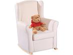 El sillón balancín Dulces Sueños está adaptado para el tiempo de lactancia. Se puede mecer al bebé cómodamente mientras el padre o la madre tiene la espalda y los brazos apoyados.