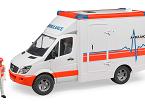 Mercedes Benz Sprinter Ambulancia con conductor, de BRUDER
