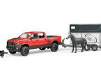 RAM 2500 Power Wagon con remolque equino, de BRUDER
