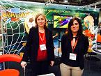 ARAIT MULTIMEDIA: Teresa Sánchez y Marta Lozano, de Arait Multimedia, presentaron en Londres la actualidad de la serie japonesa de animación Inazuma Eleven Go!