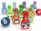 Bolos de Madera Woomax-Fisher-Price, COLORBABY