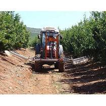 Barras herbicidas hidráulicas interfilas