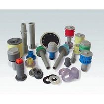 Toberas filtrantes en material termoplástico