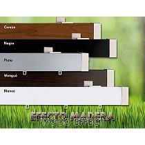 Rieles rectangulares de madera con 5 colores