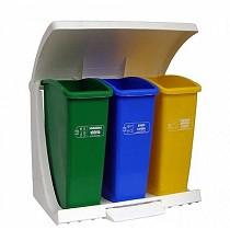 Ecopunto contenedor selectivo con tapa y pedal