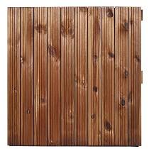Losas de madera ranuradas