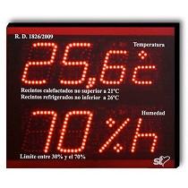 Marcadores de temperatura y humedad