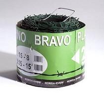 Rollo de alambre espino plastificado