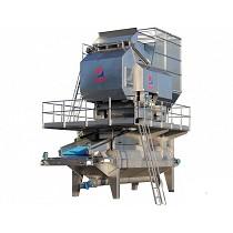 Sistema de limpieza-lavado de almendra