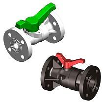Válvulas de bola de 2 vías bridada compacta