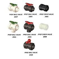 Fittings para válvulas de bola en plástico