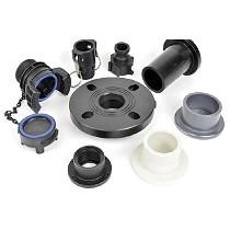 Fittings y rácores para válvulas termoplásticas
