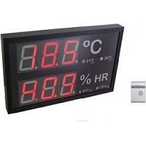 Indicador de temperatura y humedad para grandes superficies y centros comerciales Decein Decein
