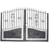 Puerta doble de hierro
