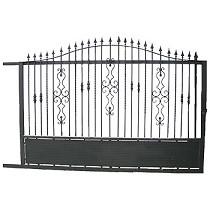 Puerta corredera de hierro