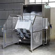 Armario de lavado automático de contenedores y palets
