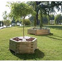 Jardineras de pino
