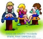 Juegos infantiles de caucho reciclado