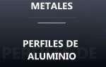 Metales, perfiles de aluminio