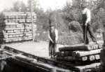 Construcción de via ferroviaria en Canada en el año 1910