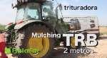 TRB Mulching Trituradora ecologica lanzamiento acordonado lateral
