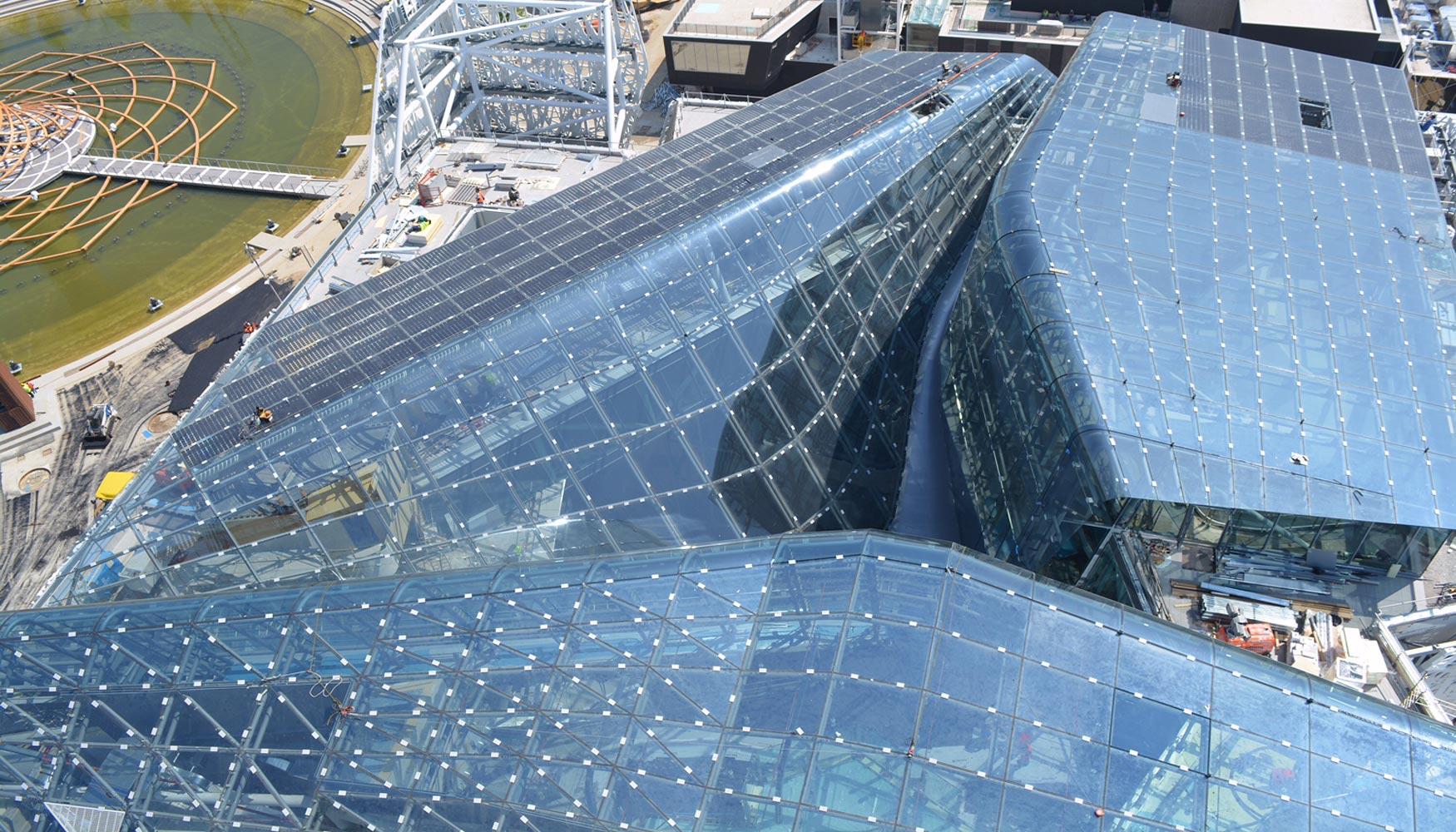 Vidrio arquitectónico español en la gran cúpula del