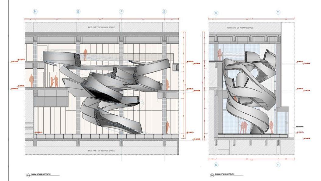M xima flexibilidad para convertir una escalera en una for Escaleras en planta