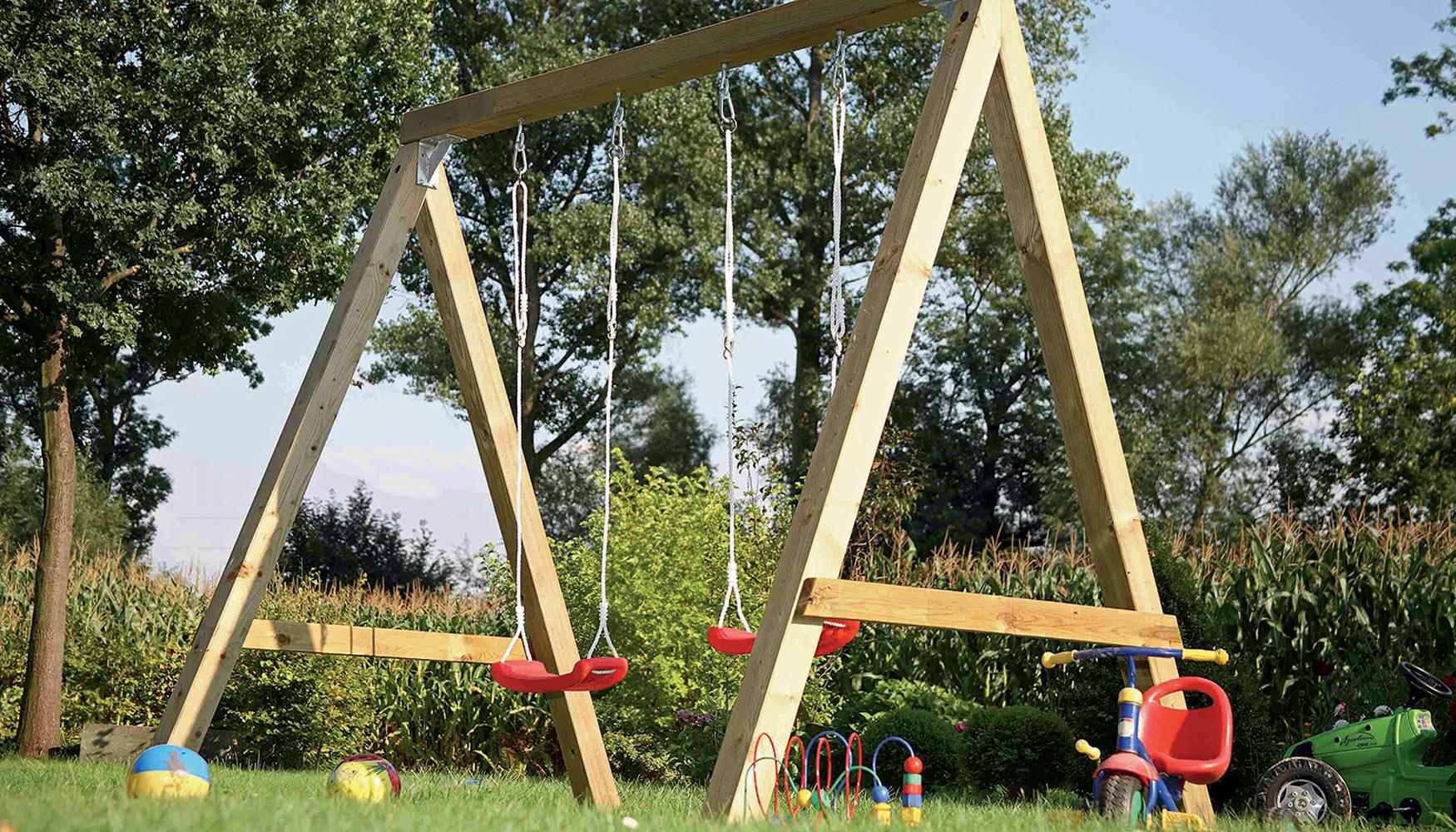 Como hacer columpios de madera good como hacer columpios - Columpios de madera ...