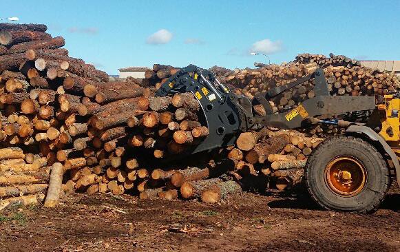 Maderas Herusoli estrena su pinza para troncos marca Trevibenne - Madera