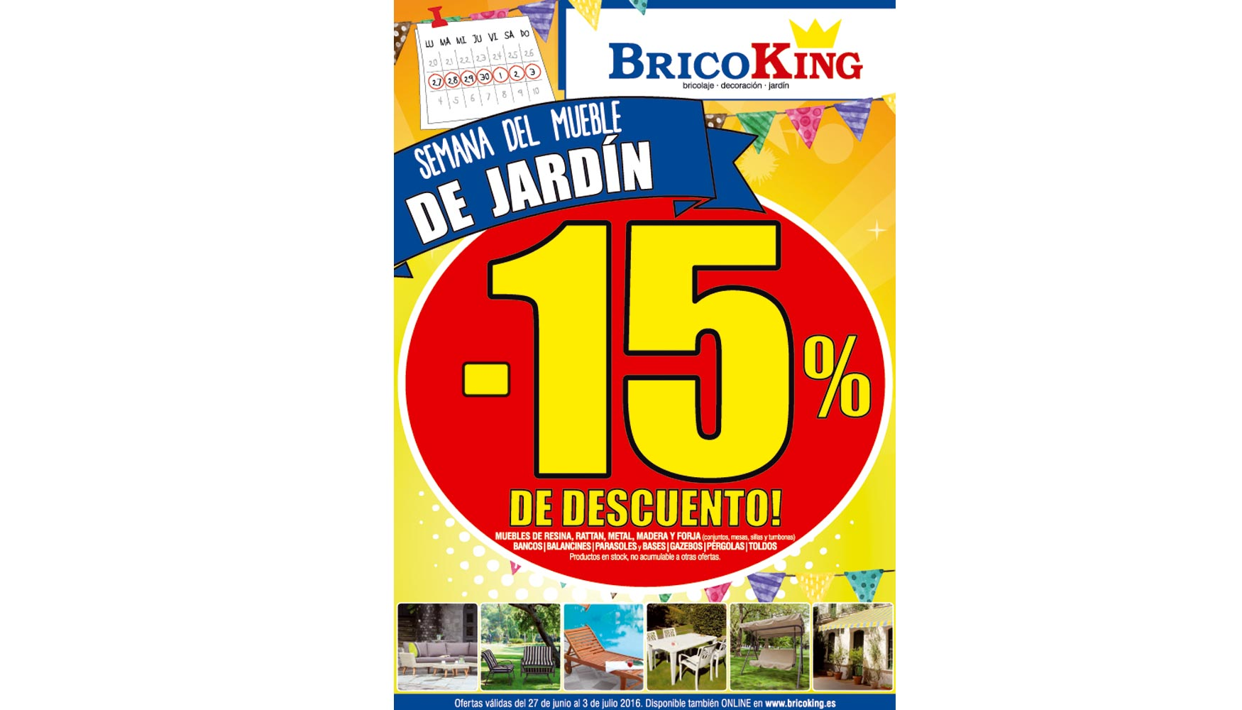 Bricoking celebra la semana del mueble de jard n ferreter a for Piscinas bricoking