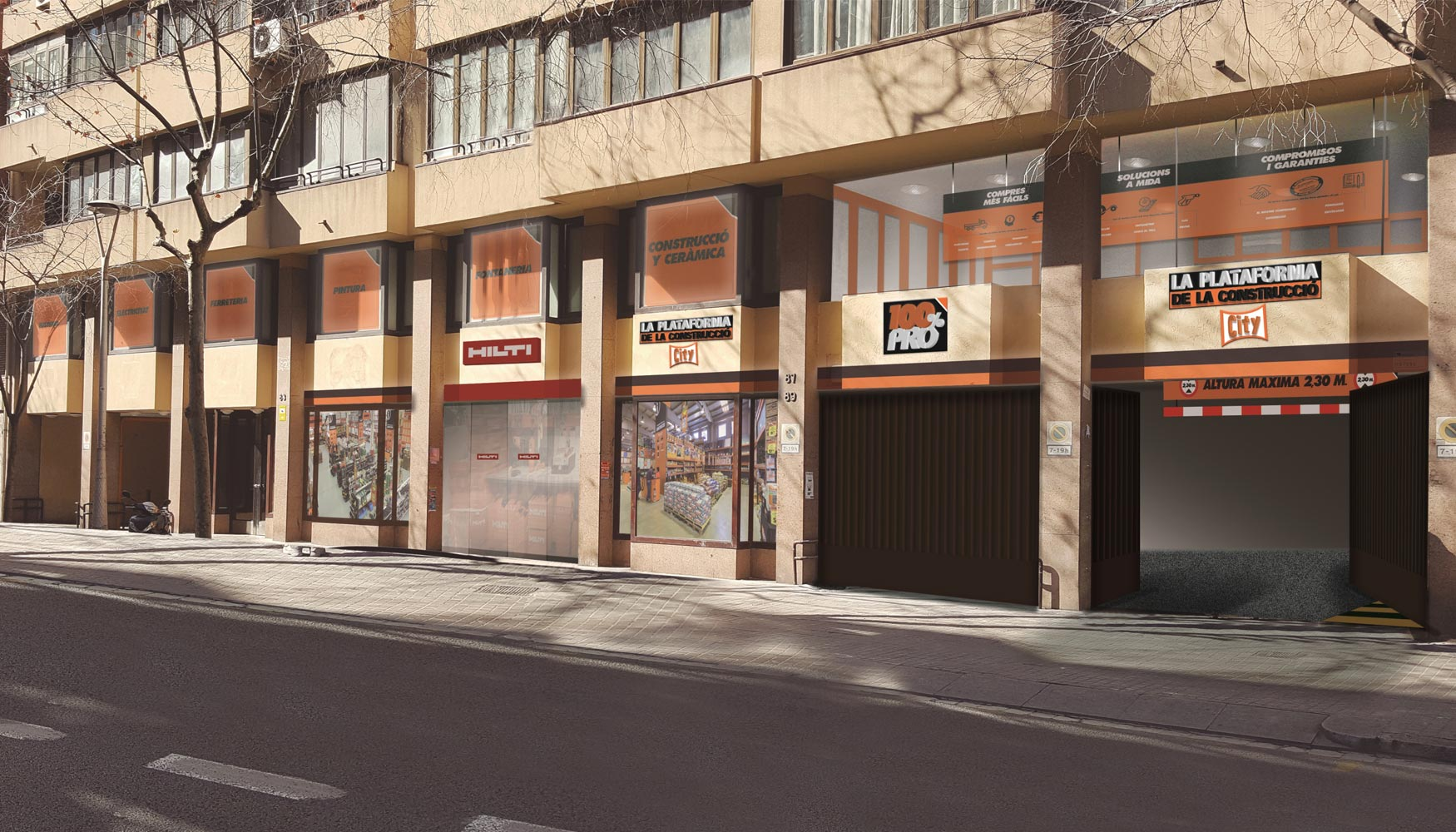 La plataforma de la construcci n abrir un nuevo almac n Empresas de construccion en barcelona