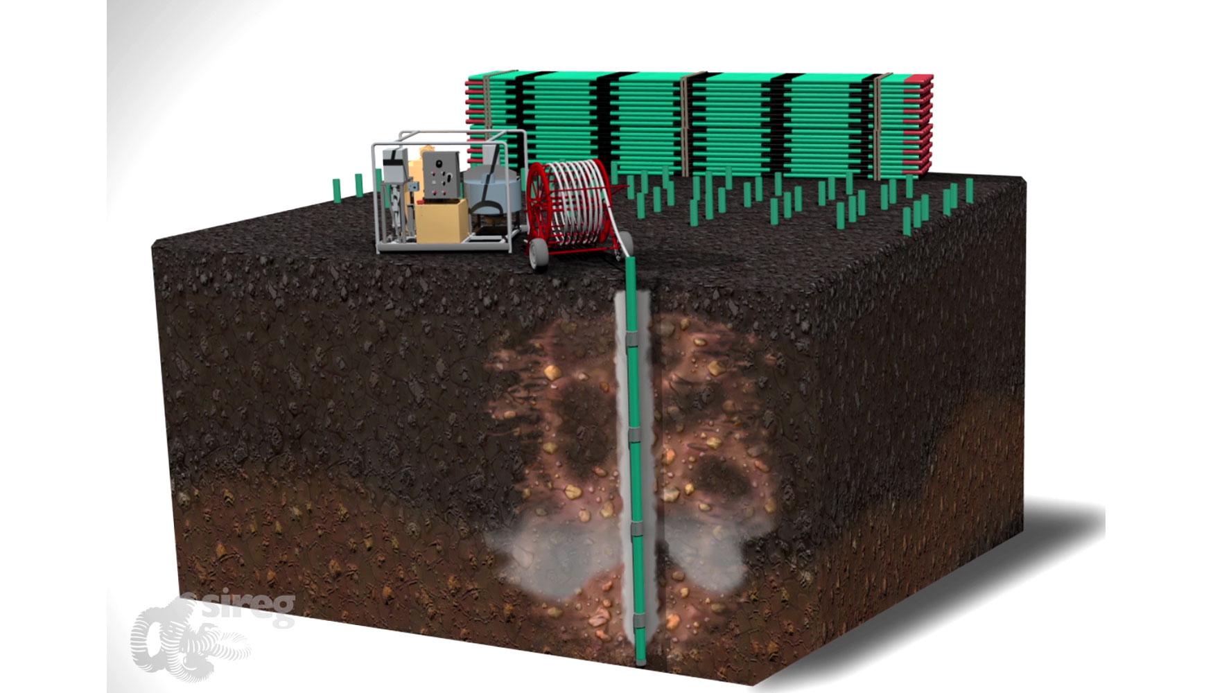 Inyecciones con tubos manguito para el tratamiento del for Tipos de terreno