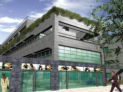 Alaja inicia la construcci n de un edificio de oficinas y for Oficinas de dhl en madrid