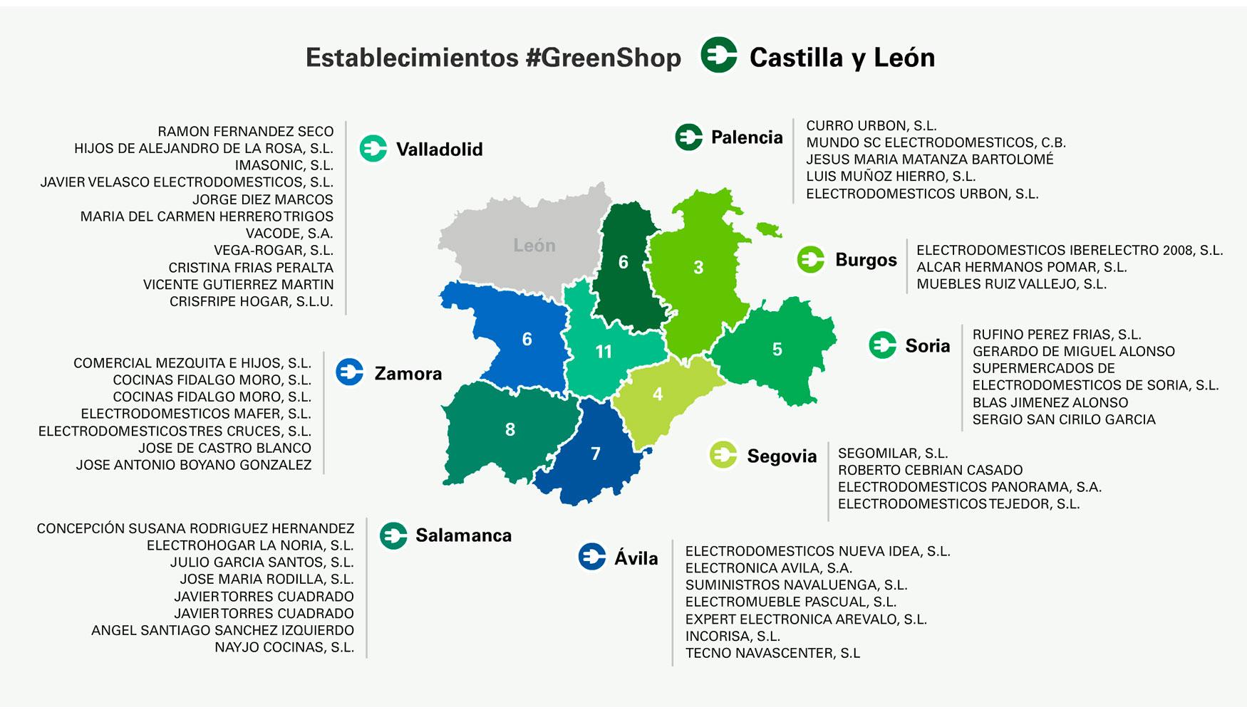 Mapa Castilla Y Leon En Blanco.La Fundacion Ecolec Elige Castilla Y Leon Para La Puesta En