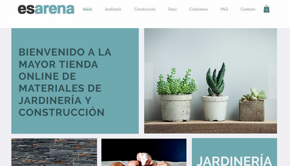 Nace esarena una nueva tienda online de materiales de for Jardineria online