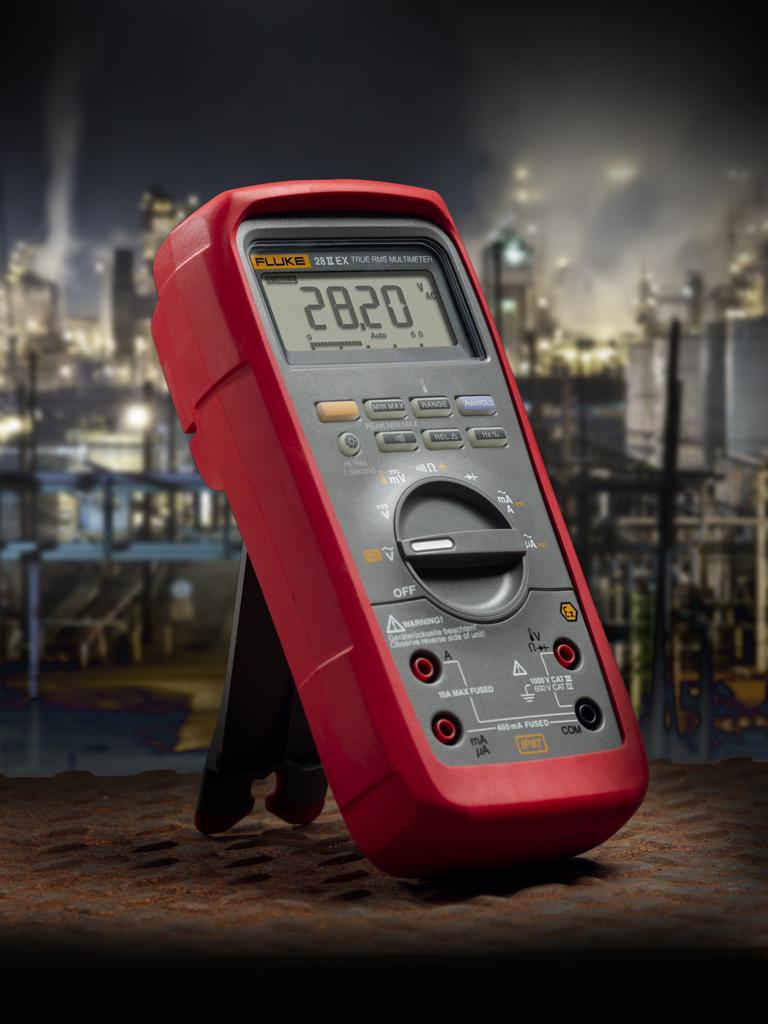 Un nuevo multímetro digital Fluke, intrínsecamente seguro proporciona una extrema resistencia en entornos potencialmente explosivos.